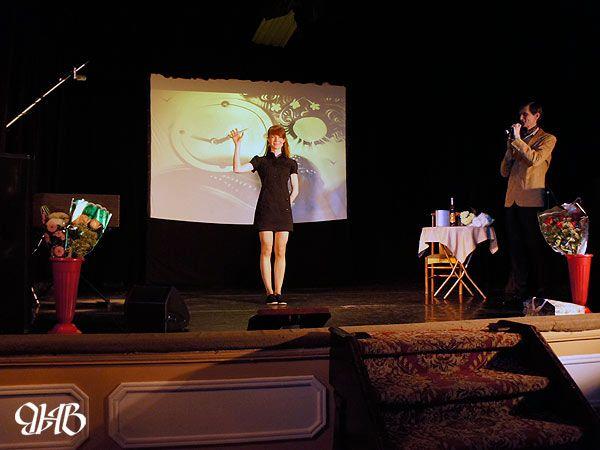 Песочное шоу на концерте Виталия Аверьянова в «Доме актёра».