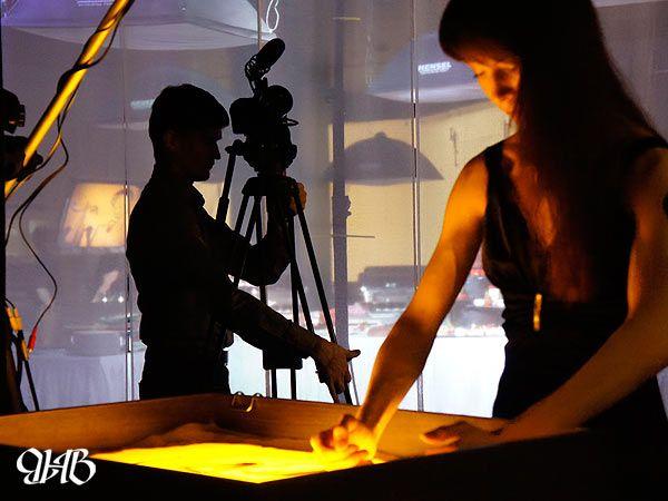 Песочное шоуна презентации в Екатеринбурге.