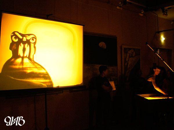 Песочное шоу в Курганском художественном музее.
