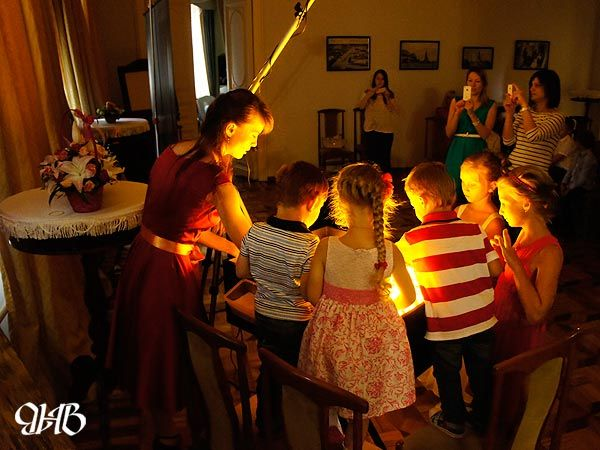 Песочное шоу на дне рождения в Екатеринбурге.
