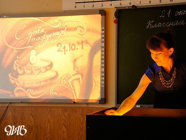 Песочное шоу на детском дне рождения в Екатеринбурге.