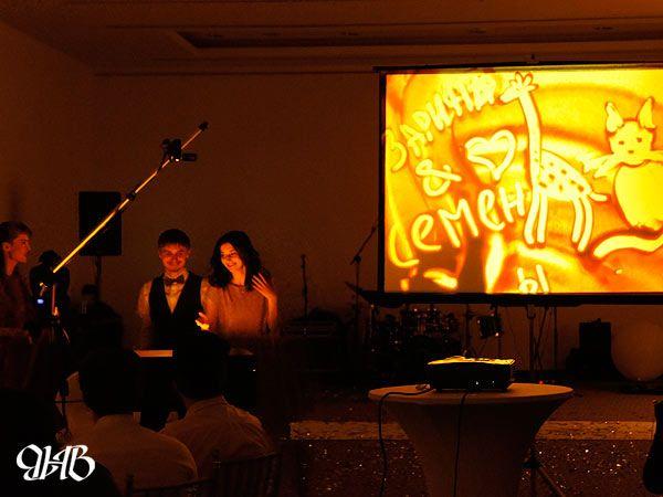 Свадебное песочное шоу в отеле «Angelo».