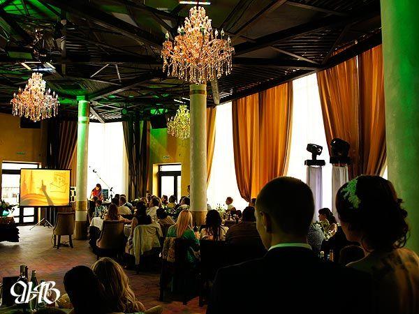 Свадебное песочное шоу в ресторане«Fidel'» в Екатеринбурге.