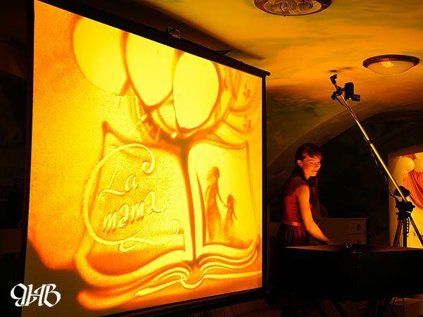 Песочное шоу в «La mama».