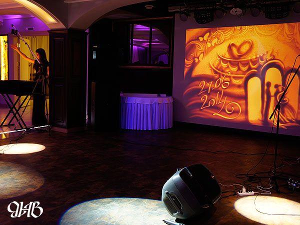 Песочное шоу на свадьбе в Кургане.