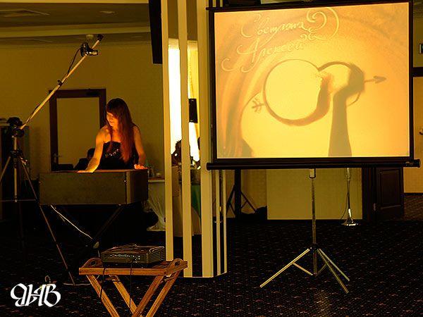 Песочное шоу на свадьбе в отеле «Ramada» в Екатеринбурге.