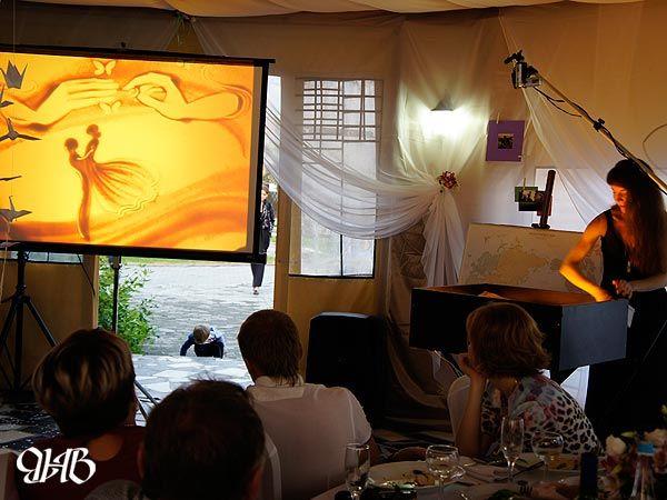 Свадебное песочное шоу в «Раздолье».