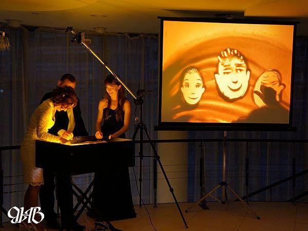 Песочное шоу на годовщине свадьбы в Екатеринбурге.