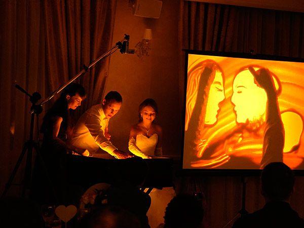 Свадебное шоу песка в Екатеринбурге.