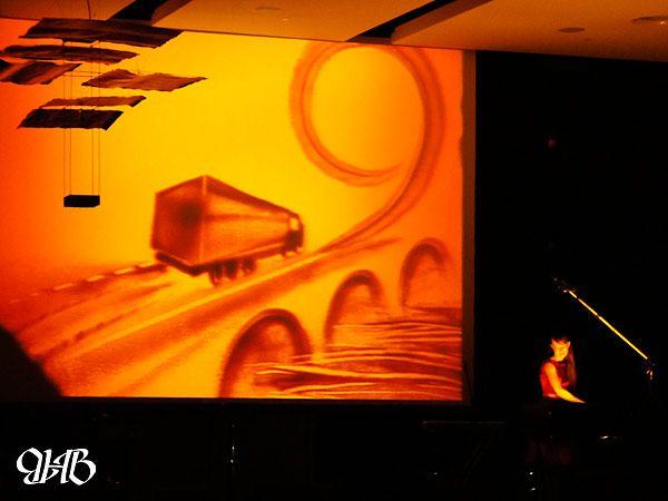 Шоу песочной анимации на новогоднем корпоративе компании «Трансибурал».