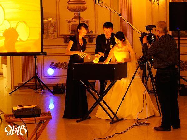 Свадебное песочное шоу в «Зимнем саду».