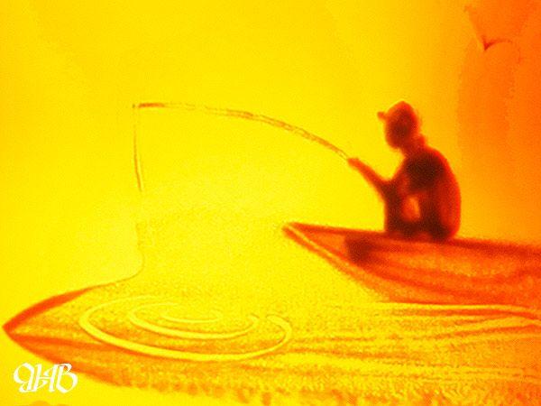 Песочное шоу на юбилее в Нижнем Тагиле.