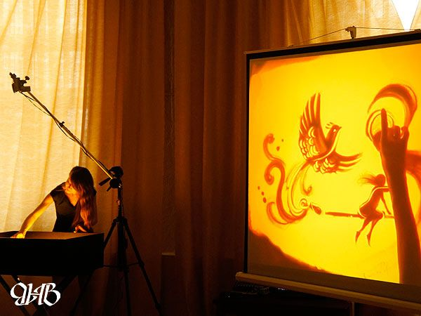 Песочная анимация в Лесном.
