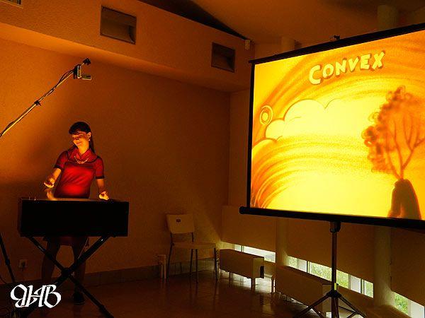 Песочный мастер-класс по заказу компании «Convex».