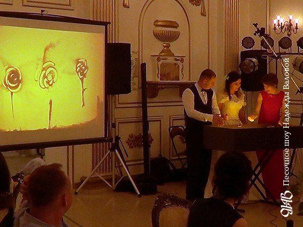 Эксклюзивное песочное шоу на свадьбе в Екатеринбурге.